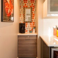 Retro-Mod Kitchen Designed and Implemented by Allyson Forrister - Photographed by Kate Babetski